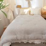 모달코튼 겉감-40% Modal, 60% Cotton, 안감-100% Cotton 모달와플 겉지에 피그먼트 안지로 부드러움을 더한 소재